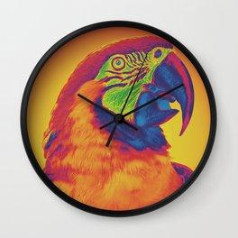 Trippy Parrot Wall Clock