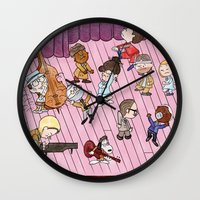 royal tenenbaums Wall Clocks featuring O Tenenbaums! by JessLane