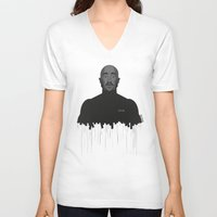 tupac V-neck T-shirts featuring Tupac portrait by Beitebe