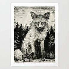 Fox Hunter Art Print