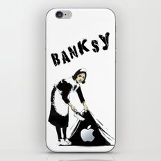 Banksy Sweeping Under The Rug iPhone & iPod Skin