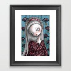 Flower Fans Framed Art Print