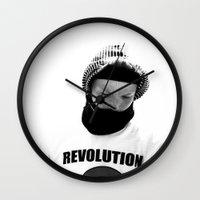 revolution Wall Clocks featuring rEVOLution by blumwurks
