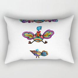 The First Illustrated Birds Rectangular Pillow