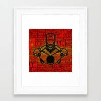 avenger Framed Art Prints featuring Iron Avenger by Kramcox