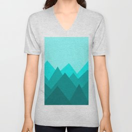 Simple Montains Unisex V-Neck