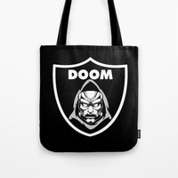 doom Tote Bags featuring Doom by Buby87