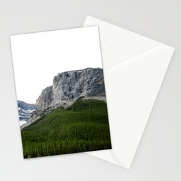 Mountains and Pine Trees Photography | Lake Minnewanka | Landscape | Alberta Stationery Cards