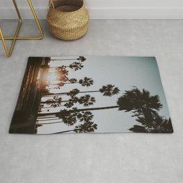 palm trees vi / venice beach, california Rug