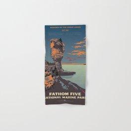 Fathom Five National Park Poster (Flowerpot Island) Hand & Bath Towel