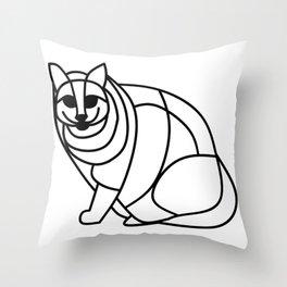 Fat cat 2 Throw Pillow