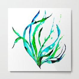 Flowing Seaweed Metal Print
