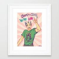viria Framed Art Prints featuring Hoot hoot you're cute! by viria