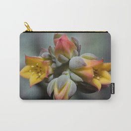 Succulent Blossom Carry-All Pouch