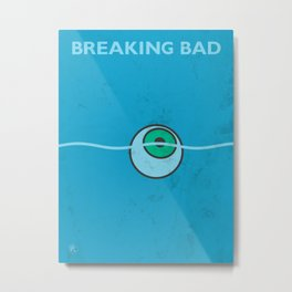 Breaking Bad - Floating Eyeball Metal Print