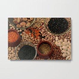 Dried legumes. Metal Print