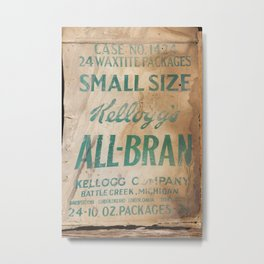 All-Bran Metal Print