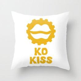 Ko Kiss (Kiss?) Throw Pillow