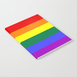 Gay pride flag Notebook