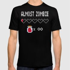 Almost Zombie MEDIUM Black Mens Fitted Tee