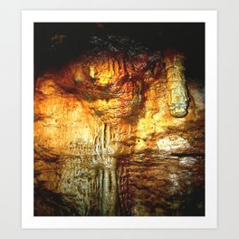 Reflections inside a Dolomite Cave Art Print