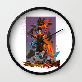 Poet Concept Art Wall Clock