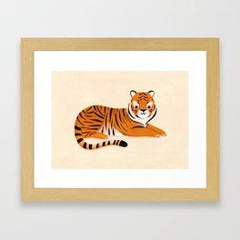 Lounging Tiger Framed Art Print