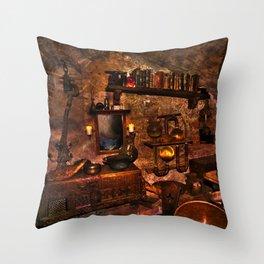 Black Magicians Room Throw Pillow