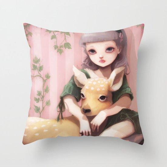 My dear lady deer... Throw Pillow