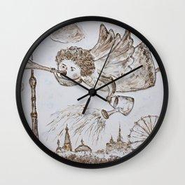 angel of spring Wall Clock