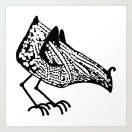Birdie occupied Art Print