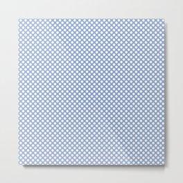 Serenity and White Polka Dots Metal Print