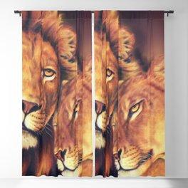 Lions Soulmates Blackout Curtain