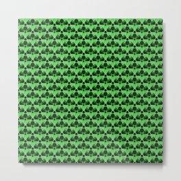 Nuclear Green & Black Nuke Symbol Metal Print
