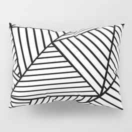 Abstraction Lines Close Up Black and White Pillow Sham