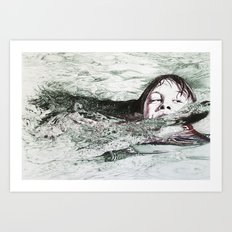 Go Swimming Art Print