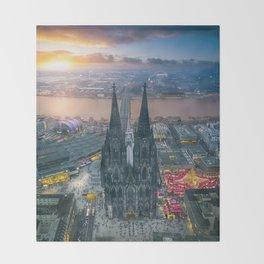 Sunset at the Rhine Throw Blanket