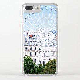 Grand Roue Bleu Clear iPhone Case