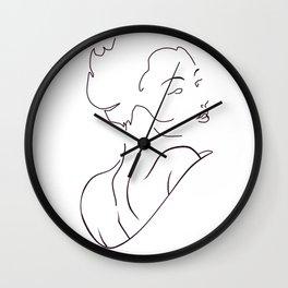 woman, geisha Wall Clock