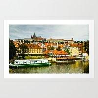 prague Art Prints featuring Prague. by Michaëlis Moshe