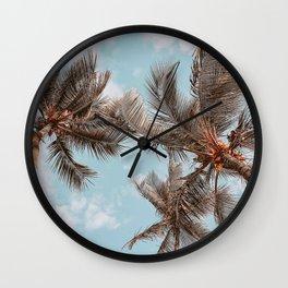 palm trees xxi Wall Clock