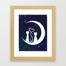 Loving Cats Framed Art Print