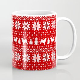 Portuguese Water Dog Silhouettes Christmas Sweater Pattern Coffee Mug