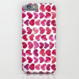 Hearts Beating Together iPhone Case