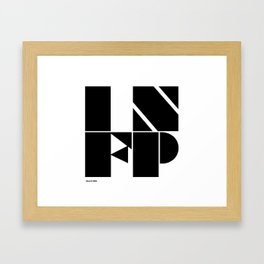 Type Type for INFP Framed Art Print