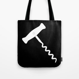 Corkscrew Over Black Tote Bag