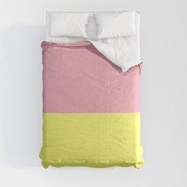 Peach Pink & Custard Comforters