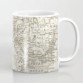 Taupe Wol Map Coffee Mug
