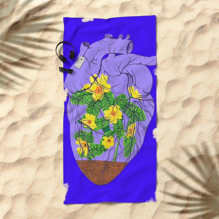 Heart Terrarium Beach Towel