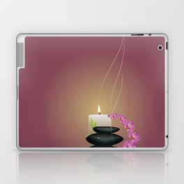Pebbles with orchid Laptop & iPad Skin